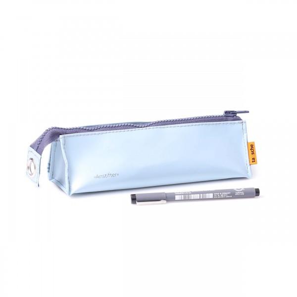 Pencil case - truck tarpaulin - zip - light blue - 1