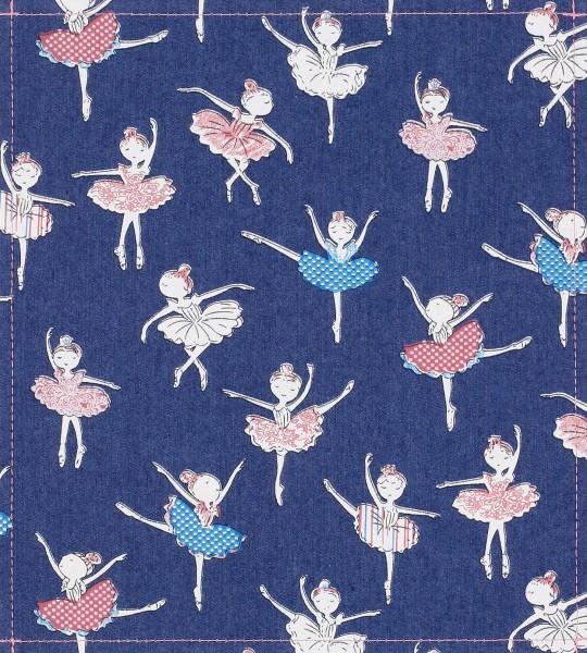 Wechselklappe für Umhängetasche - Jeans Ballerina - blau - Größe M