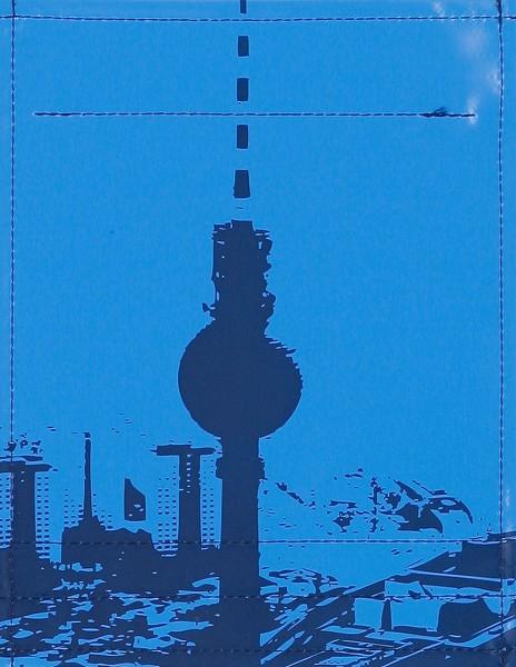 Deckel S - Stadtsilhouette Berlin mittelblau/dkl.blau