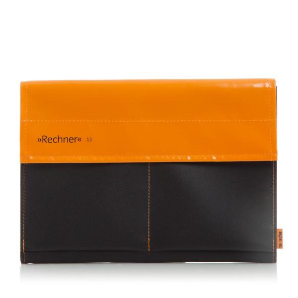 Laptophülle - Computer - Rechner 13 - Plane/Mesh - orange/schwarz - 1