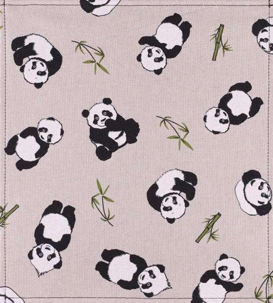 Exchangeable flap for shoulder bag - Panda - beige - size M