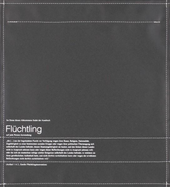 Wechseldeckel für Laptoptasche - Flüchtling - schwarz - Größe M