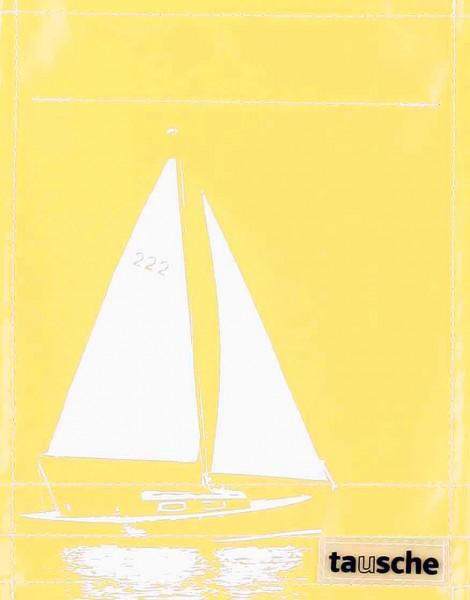 Deckel S - Segelboot gelb