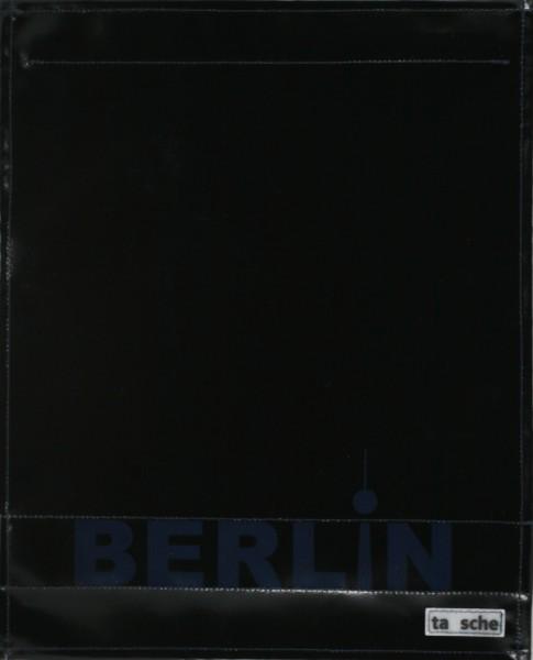 Wechseldeckel für Umhängetasche - Berlin - schwarz/blau - Größe L
