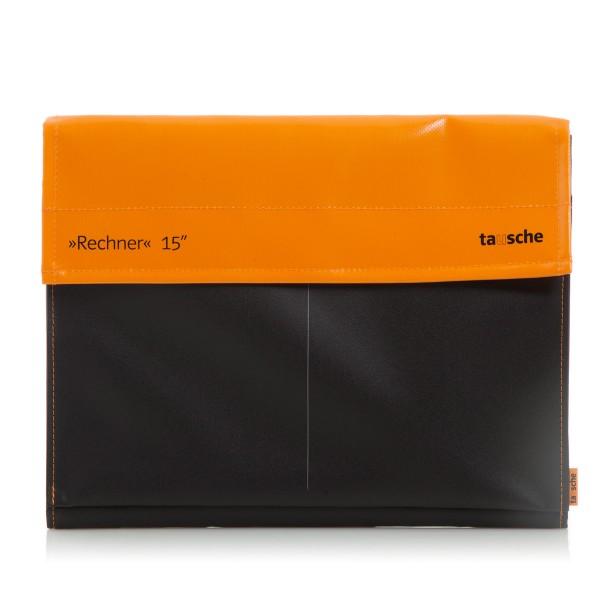 Laptophülle - Computer - Rechner 15 - Plane/Mesh - orange/schwarz - 1