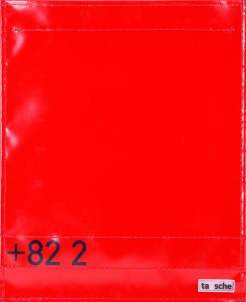 Wechselklappe für Umhängetasche - Vorwahl Seoul - rot - Größe L