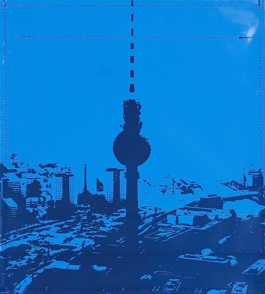 Bag cover - city silhouette Berlin medium/dark blue - size M