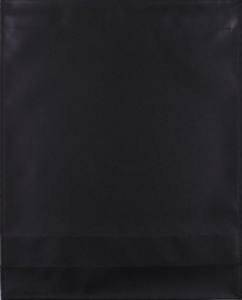 Wechselklappe für Kuriertasche - Plane pur - schwarz matt - Größe L