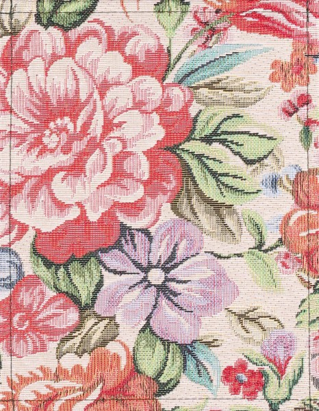 Exchangeable cover - Cushion Roses - pink/beige - size S