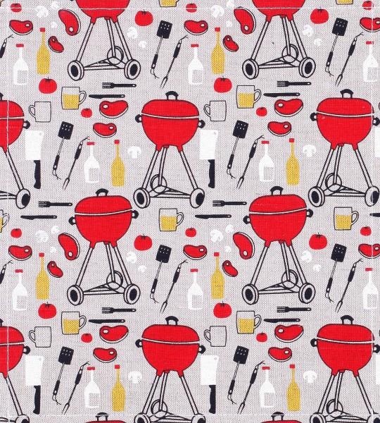 Wechseldklappe für Umhängetasche - Barbecue - bunt - Größe M