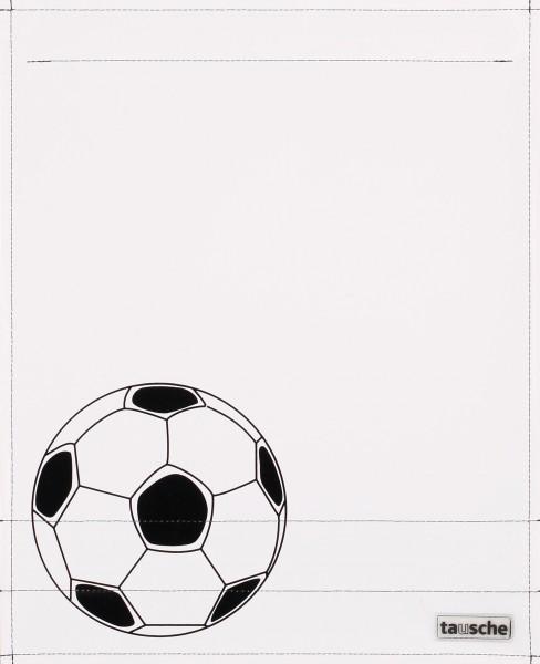 Interchangeable cover for messenger bag - football - white/black - size L