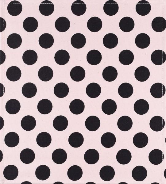 Wechselklappe für Tasche/Rucksack - Dots - weiß/schwarz - Größe M
