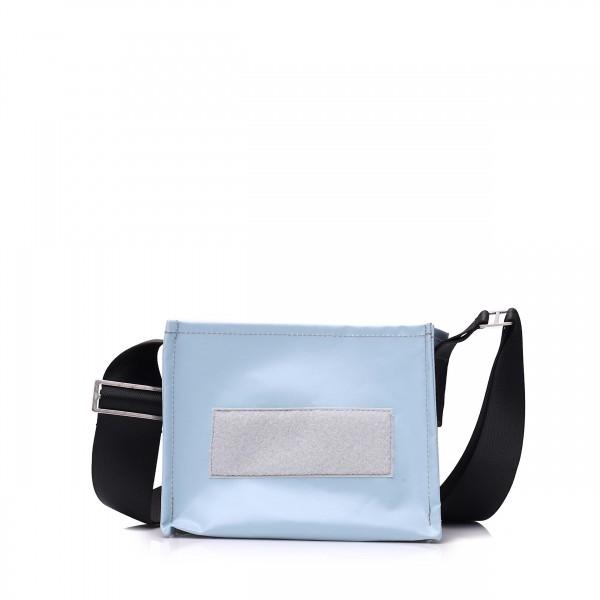 Handbag - with interchangeable flap - night owl - light blue - 1