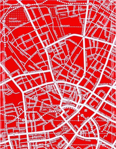 Deckel S - Stadtplan rot