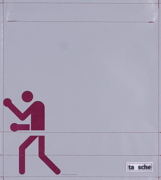 Wechseldeckel für Backpack - Boxer - grau/burgunder - Größe M