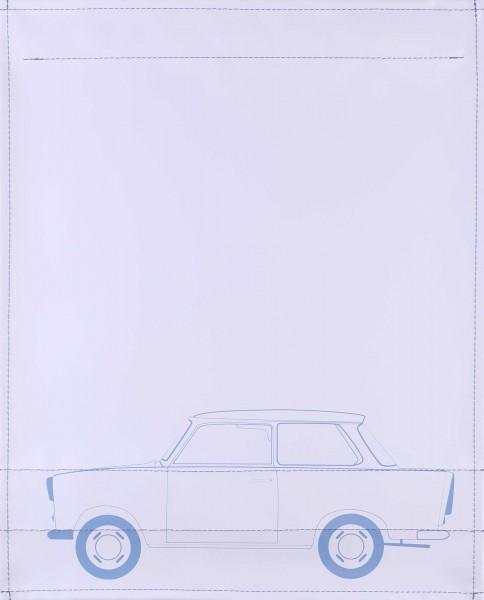 Interchangeable lid for shoulder bag - Trabant 601 - light grey - size L