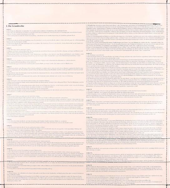 Wechseldeckel für Tasche - Grundrechte - beige - Größe M