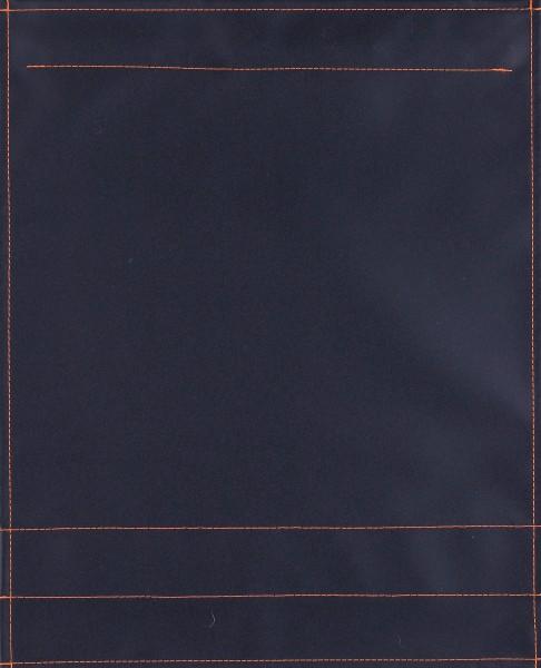 Wechseldeckel für Messengerbag - Plane pur - schwarz matt - Größe L