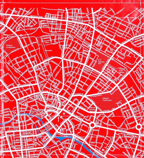 interchangeable cover for shoulder bag - city map - red/white - size M