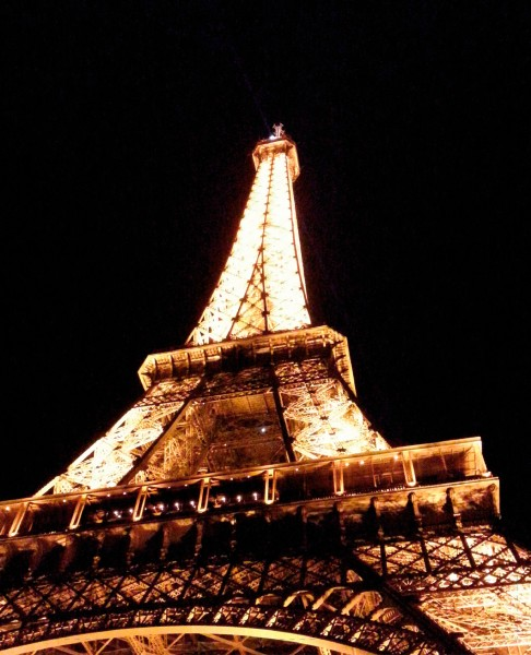 Exchangeable flap for shoulder bag - Eiffel tower - Photography - Size L