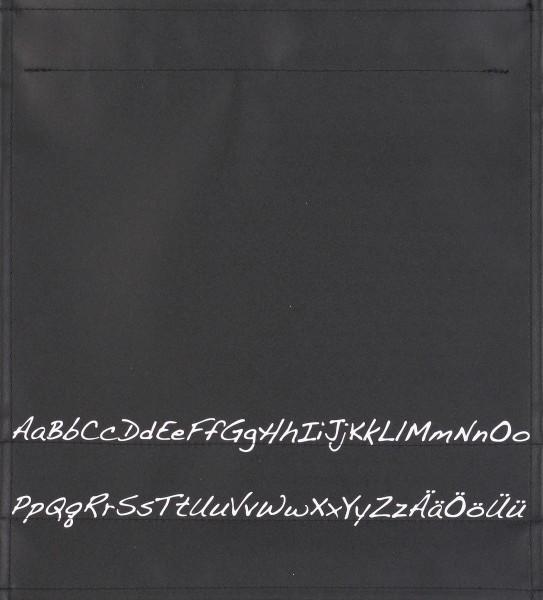 Deckel M - Alphabet schwarz/weiß