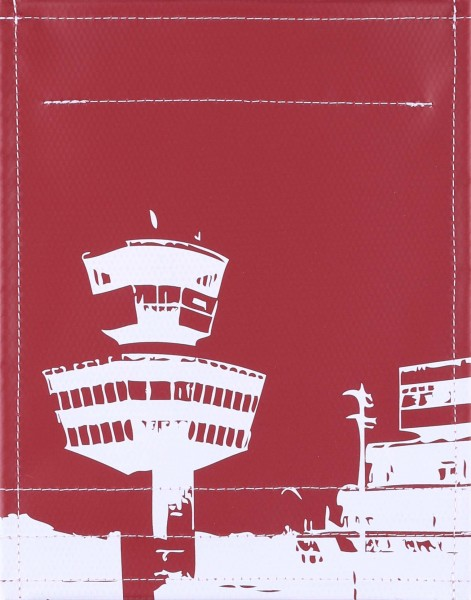 Interchangeable flap for bag/backpack - Tegel Airport - burgundy - size S