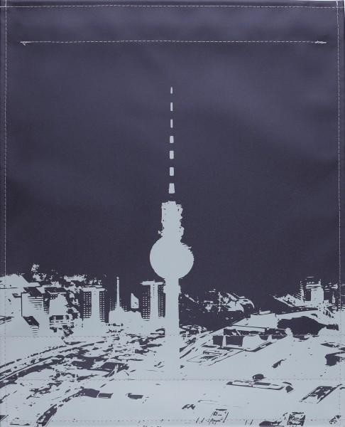 Wechselcover für Tasche - Fernsehturm Berlin - schwarz/grau - Größe L