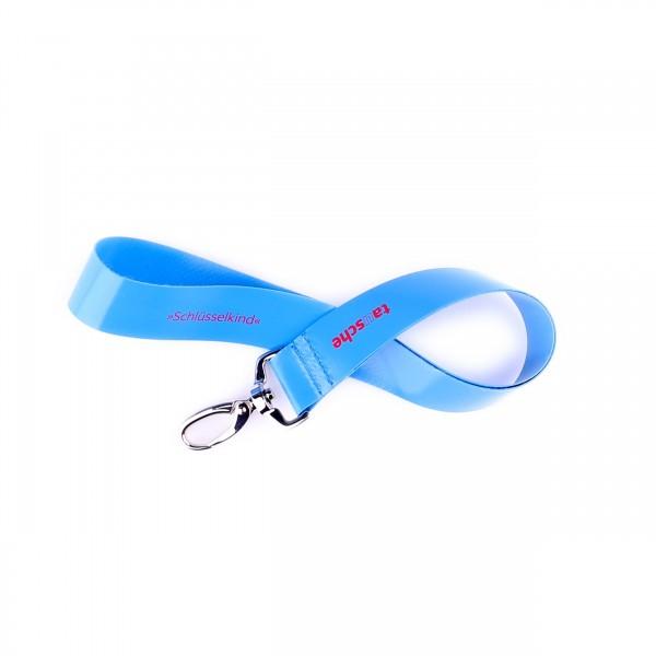 Lanyard - Schlüsselkind - LKW-Plane - blau