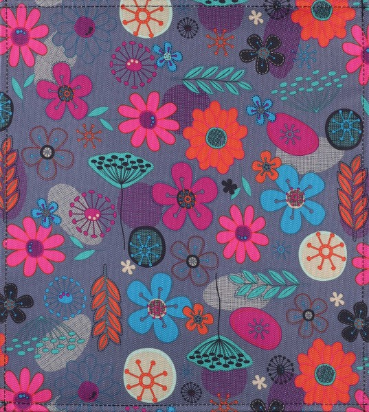 Wechselklappe für Tasche - Naiver Blütenreigen - bunt - Größe M