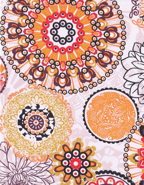 Exchangeable cover for handbag - Awning Mandala - colourful - size S