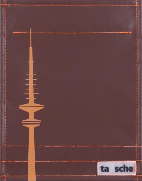 Deckel S - Hamburg Fernsehturm braun/orange