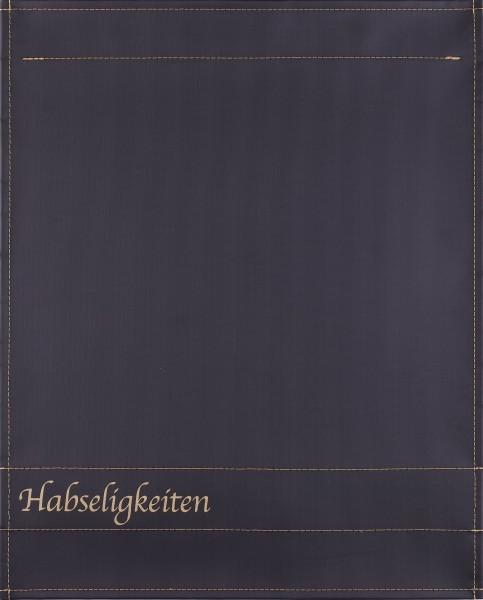 interchangeable lid for shoulder bag - belongings - black/gold - size L
