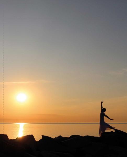 Wechseldeckel für Tasche - Tanz auf Hiddensee - bunt - Größe L