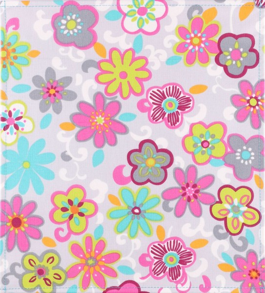 Exchangeable Cover for Bag - Crazy Flowers - multicoloured - Size M