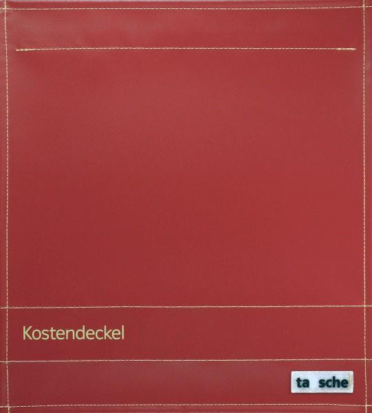 Deckel M - Kostendeckel burgunder/gold