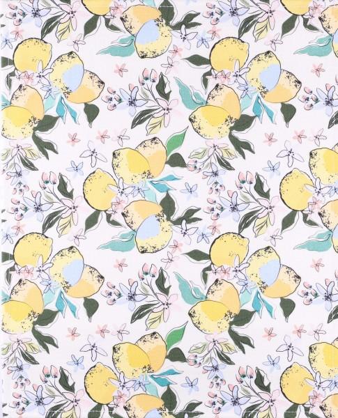 changeable flap for shoulder bag - lemon blossoms - yellow - size L