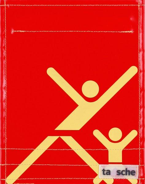 Wechselklappe für Tasche - Mutter-Kind-Turnen - rot/gelb- Größe S