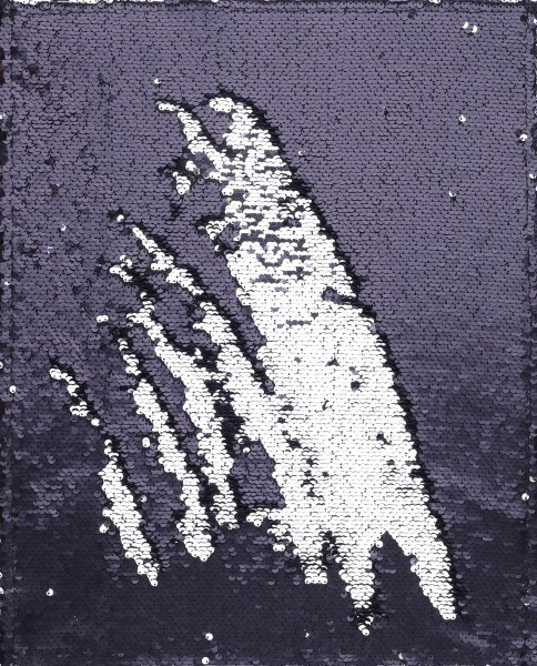 Deckel L - Paillette schwarz-silber