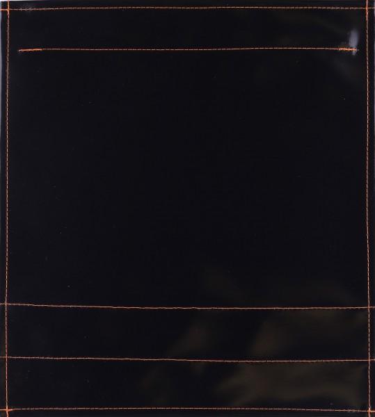 Deckel M - pur schwarz glänzend - Naht orange