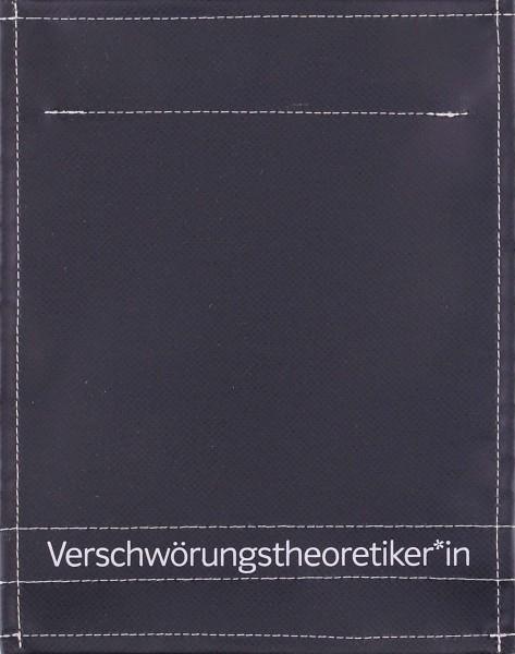 Wechseldeckel für Tasche - Verschwörungstheoretiker - schwarz matt - Größe S