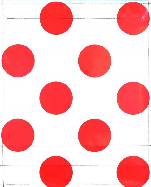 Wechselcover für Fahrradtasche - Bergtrikot - weiß/rot - Größe L