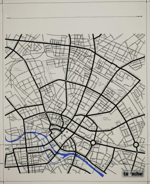Deckel L - Stadtplan elfenbein