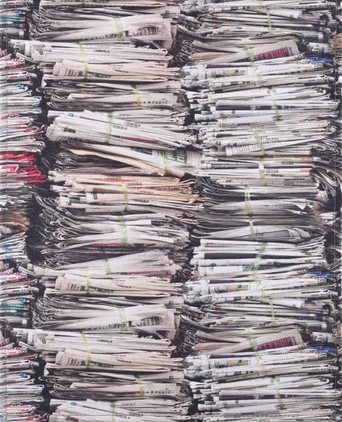 Deckel L - Zeitungsstapel