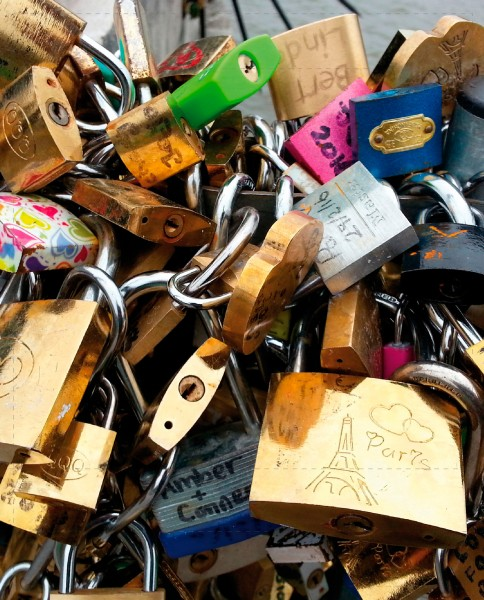exchangeable flap for bag - love locks - photo print - size L