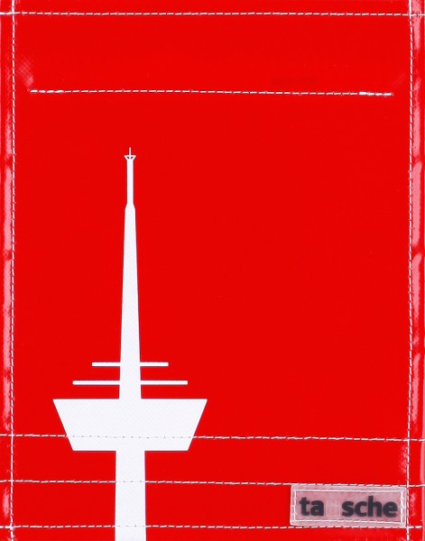Deckel S - Köln Turm rot/weiß