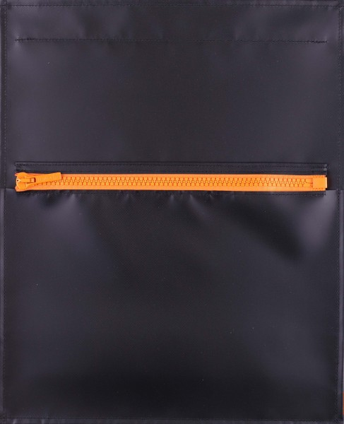 exchangeable flap - pocket flap - with zipper - black