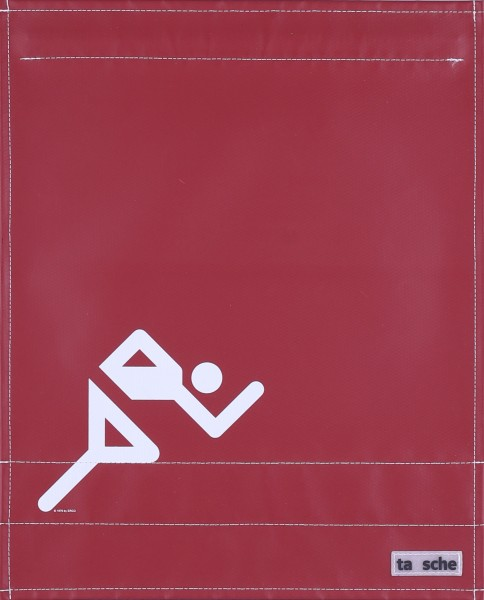 Deckel L - Läufer burgunder/weiß