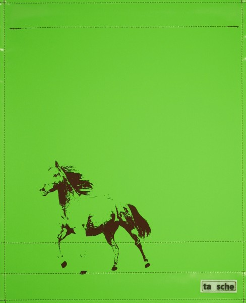 Exchangeable cover for shoulder bag - horse - green/brown - size L
