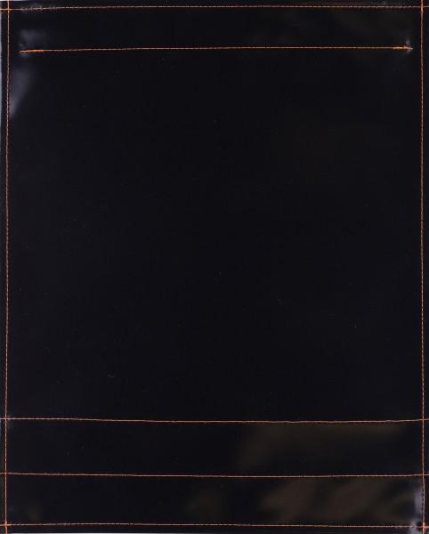 Wechselklappe für Umhängetasche - Plane pur - schwarz - Größe L