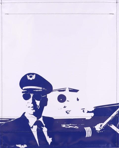 Wechseldeckel für Tasche - Pilot - hellgrau/blau - Größe L